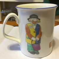 Lovely Royal Kent Porcelain 12oz Coffee Mug Clowns Made in Staffordshire England