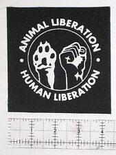 Human Animal Liberation Front Patch First ALF Rights Punk Vegan Vegetarian Earth