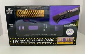 """Hot Tools Professional 1-1/2"""" Ionic Hot Air Dryer / Thermal Brush Gold 1000 New"""
