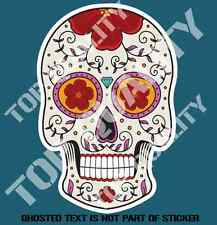 SUGAR SKULL SCULL DAY OF DEAD DECAL STICKER HOT ROD RAT ROD RALLY DRIFT JDM