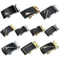 Leather Men's Automatic Belts Waist Strap Belt Waistband Buckle Gifts