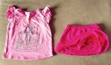 """NEW - SIZE 2 - CUTE TOP WITH """" ANGELINA BALLERINA """"  SKIRT WITH BUILT IN PANTS"""