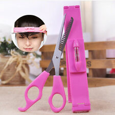 New 2Pcs Salon Bangs Scissors Hair Styling Tool Hair Cutting Scissors With Ruler
