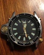 Vintage Citizen Aqualand C023 Diver Watch. Parts Or Repair. Heavy Diver Watch.
