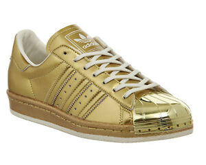 Adidas Superstar 80s Metal Gold Trainers Limited UK 4.5 EU 37.3 LN48 11