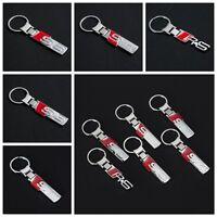 Metal Car Logo keyring Pendant key chain Holder For AUDI RS S3 S4 S5 S6 S Line