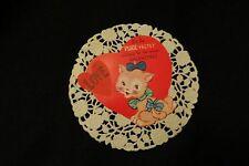 Vintage Kitten Valentine Card c. 1940s
