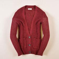 Hollister California Herren Cardigan Pullover Sweater Gr.XS Wein Rot, 43630