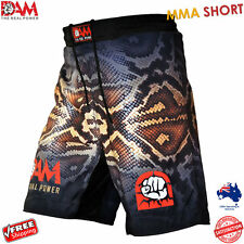 DAM Pro MMA Fight Shorts SNAKE SKIN UFC Cage Fight Grappling Muay Thai Boxing