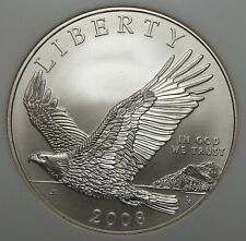 2008 Ngc Ms69 Bald Eagle Modern Commemorative Silver Dollar