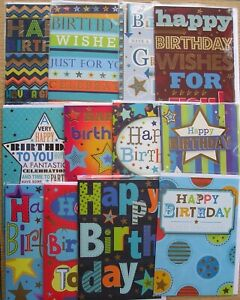 Traditional open men male birthday greetings card multiple design choice