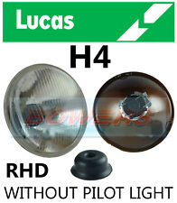 "LUCAS 7"" INCH CLASSIC CAR SEALED BEAM HEADLAMP HEADLIGHT HALOGEN H4 CONVERSION"