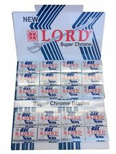 100 Lord Super Chrome double edge razor blades