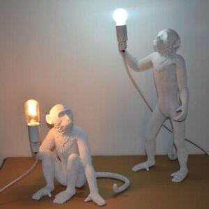 Modern Black White Gold Monkey  Lamp  Pendant  Lights  Art Parlor  hanging lamp