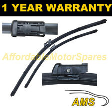 """FOR VW TOURAN MK2 2009 ON DIRECT FIT FRONT AERO WIPER BLADES PAIR 24"""" + 18"""""""