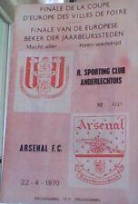 ANDERLECHT OF BELGIUM v ARSENAL 69-70 UEFA CUP FINAL