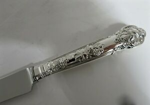 """12 Sterling Silver Vine Handle Dinner Knives 9.75"""" Long. (2 Sets Available)"""