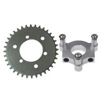 "CNC Silver 36T Sprocket With 1.5"" Adapter Fits 60cc 66cc 80cc Motorized Bicycle"