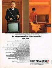 PUBLICITE ADVERTISING 024   1969   RIBET- DESJARDINS  téléviseur