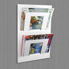 Designer doppia parete montato rivista giornale Rack BIANCO dall' Assemblea in metallo