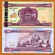 New listing Eritrea, 50 Nakfa, 2004, P-7, Unc