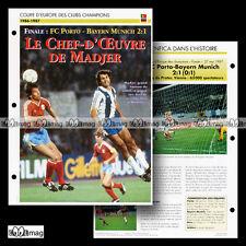 #046.08 FC PORTO-BAYERN MUNICH 1986-87 Photo MADJER & MATTHÄUS Fiche Football