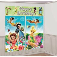 DISNEY FAIRY TINKERBELL SCENE SETTER Birthday Party Wall Decoration Room Decor