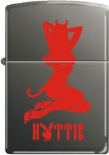 Zippo Playboy Hottie Black Ice Windproof Lighter NEW RARE