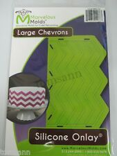 Marvelous Molds silicone onlay Large Chevron fondant cake and clay art supplies