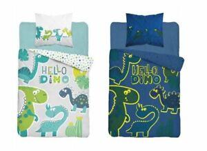 Dinosaur Glow In The Dark Girls Duvet Cover Pillowcase Set Bedding Set 160x200cm