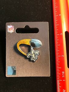 NEW Orleans Saints Glitter Trail Pin - NEW Butterfly Pin Back - NFL Licensed