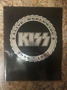 KISS ALIVE WORLDWIDE 1996/1997-WORLD TOUR-Souvenir Concert Program Guide Book
