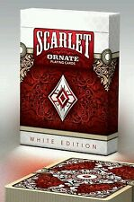 ORNATE WHITE EDITION SCARLET no brand  playing cards deck