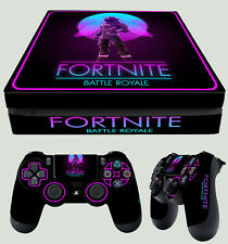 FORTNITE 02 BATTLE ROYALE FPS PS4 Slim Sticker Skin + 2 X Pad Decals Vinyl New