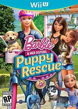 Barbie and Her Sisters: Puppy Rescue [Nintendo Wii U, NTSC, Puppies Mattel] NEW