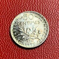 #3801 - RARE - 50 centimes 1917 Semeuse Argent SPL/FDC Neuve - FACTURE