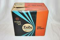 Vintage Exide Battery Advertising Box GTX-24 for Display