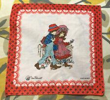 Vtg Cttn Hanky Handkerchief Miss Petticoat School Boy & Girl Roth International