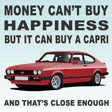 Ford Capri Mk3 2.8 Injection Art illustration Drinks Coaster
