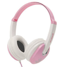 GROOV-E KIDZ DJ STYLE STEREO OVER EAR HEADPHONES FOR KIDS - PINK/WHITE - GV590PW