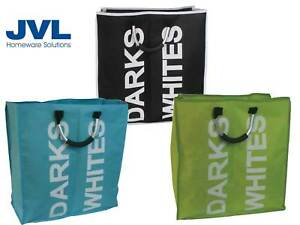 JVL Large Double Laundry Washing Bag Foldable Popup Basket Bin Hamper Storage