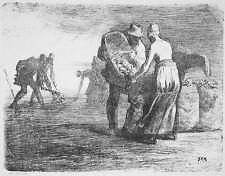 Jean-Francois Millet Reproduction: The Potato Gatherers - Fine Art Print