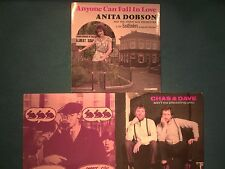 "3 X VINYL 7"" SINGLES - CHAS & DAVE & ANITA DOBSON -  (LOT J10)"