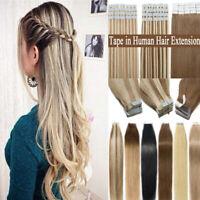 Balayage Ombré BANDES TAPE Trame Extensions de cheveux 100% NATURELS INDIAN REMY
