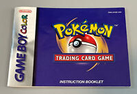 Pokemon Trading Card Game Book Manual (Game Boy Color) Instruction Booklet ONLY