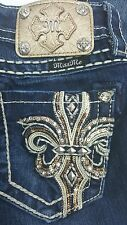 MISS ME SIZE 24 MID RISE BOOT CUT  BY ROCK REVIVAL
