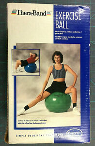 """Thera-Band Exercise Ball 75 cm /29.5 Inches Blue for 6'2"""" to 6'8"""" New in Box"""