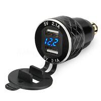 2.1A LED DUAL USB Presa per BMW MOTO ACCENDISIGARI 12V-24V EU spina