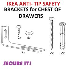 IKEA MALM SAFETY ANTI-TIP WALL FITTING Chest of drawers CHILD Secure STRAP SCREW