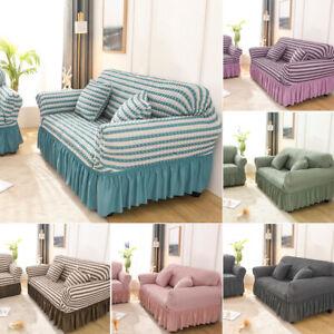 1-4 Seater L-Shape Sofa Full Cover Stretch Wrap Elastic Protector Sofa Slipcover